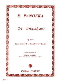 Heinrich Panofka - 24 Progressive Vocalises, Opus 81b N ° 2 - Sheet Music - di-arezzo.co.uk