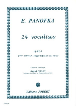 Heinrich Panofka - 24 Vocalises Progressives, Opus 81a Volume 1 - Partition - di-arezzo.fr