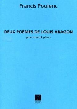 2 Poèmes d'Aragon POULENC Partition Mélodies - laflutedepan