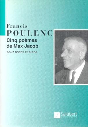 Francis Poulenc - 5 Poèmes de Max Jacob - Partition - di-arezzo.fr