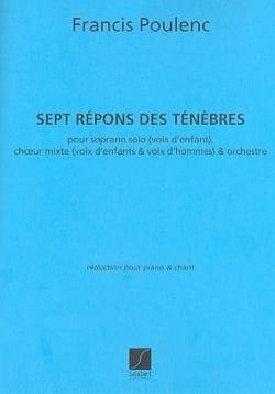 Francis Poulenc - 7 Repons des ténébres - Partition - di-arezzo.fr