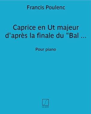 Francis Poulenc - Caprice En Ut Majeur - Partition - di-arezzo.fr