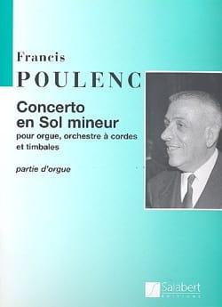 Concerto partie soliste POULENC Partition Orgue - laflutedepan