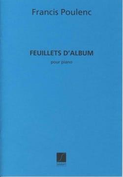Francis Poulenc - Feuillets d'album - Partition - di-arezzo.fr