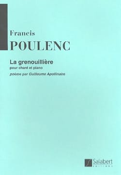 Francis Poulenc - La grenouillère - Partition - di-arezzo.fr
