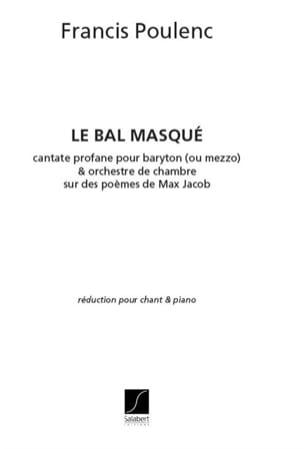 Francis Poulenc - Le Bal Masqué. - Partition - di-arezzo.fr