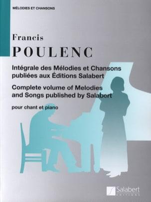 Francis Poulenc - Intégrale des Mélodies et Chansons - Partition - di-arezzo.fr