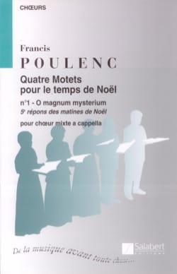Francis Poulenc - O Magnum Mysterium - Partition - di-arezzo.fr