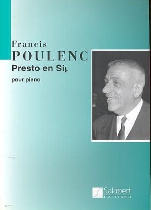Francis Poulenc - Presto En Si Bémol - Partition - di-arezzo.fr