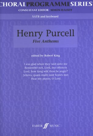 Henry Purcell - 5 Anthems - Partition - di-arezzo.fr