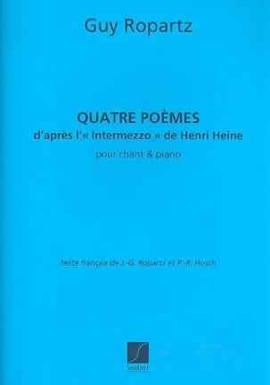 Guy Ropartz - 4 Poèmes - Partition - di-arezzo.fr