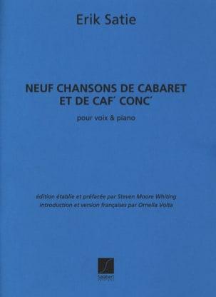 Erik Satie - 9 canciones de cabaret y café - Partitura - di-arezzo.es
