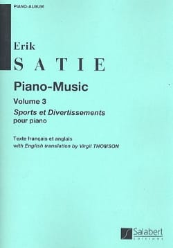 Erik Satie - Piano Music. Volume 3 - Partition - di-arezzo.co.uk