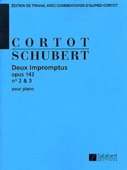 2 Impromptus, Opus 142 N° 2 et 3 SCHUBERT Partition laflutedepan