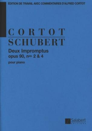 2 Impromptus, Opus 90-2 et 90-4 SCHUBERT Partition laflutedepan