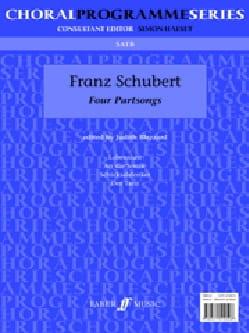Franz Schubert - 4 Partsongs - Partition - di-arezzo.fr