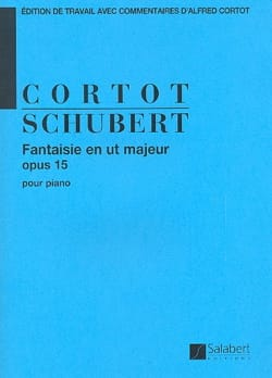 Franz Schubert - Fantaisie En Ut Majeur, Opus 15 D 760 - Partition - di-arezzo.fr