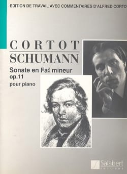 Robert Schumann - Sonate En Fa dièse Mineur Opus 11 - Partition - di-arezzo.fr