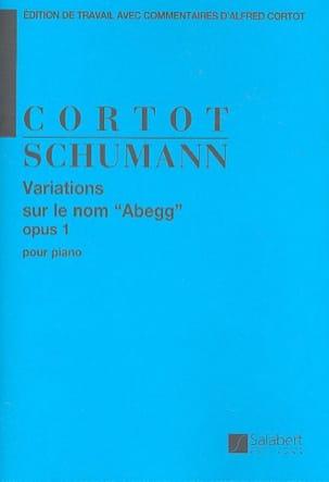 Robert Schumann - Variations sur le Nom Abegg Opus 1. - Partition - di-arezzo.fr