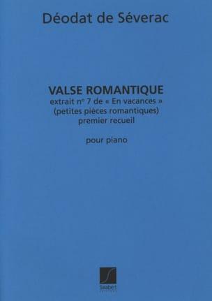 Déodat de Séverac - Valse Romantique - Partition - di-arezzo.fr