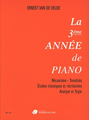 VAN DE VELDE - The third year of piano - Partition - di-arezzo.co.uk