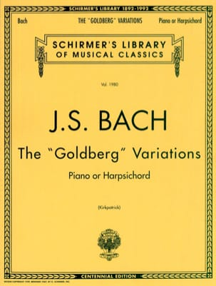 Variations Goldberg Bwv 988. - BACH - Partition - laflutedepan.com