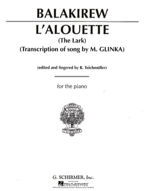 L'Alouette (The Lark) Mili Balakirev Partition Piano - laflutedepan