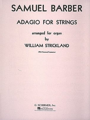Adagio Opus 11. Orgue BARBER Partition Orgue - laflutedepan