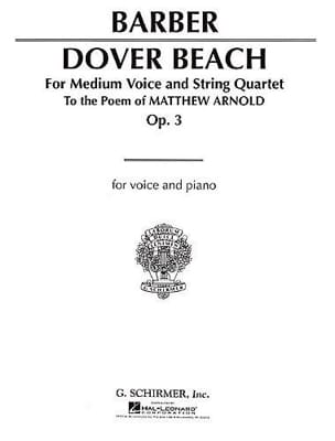 Dover Beach Opus 3 Samuel Barber Partition laflutedepan