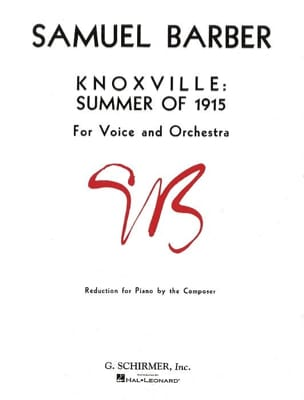 Samuel Barber - Knoxville: Summer Of 1915 Opus 24 - Sheet Music - di-arezzo.co.uk