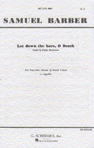 Let down the bars, O Death - BARBER - Partition - laflutedepan.com