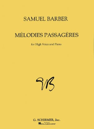 Samuel Barber - Opus 27. Voice High Melodies - 楽譜 - di-arezzo.jp
