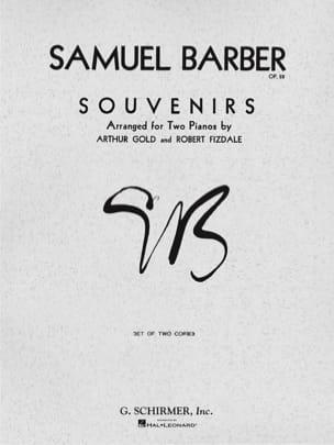Samuel Barber - Souvenirs Op. 28. 2 Pianos - Partition - di-arezzo.fr