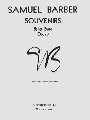 Samuel Barber - Souvenirs Opus 28. 4 Mains - Partition - di-arezzo.fr