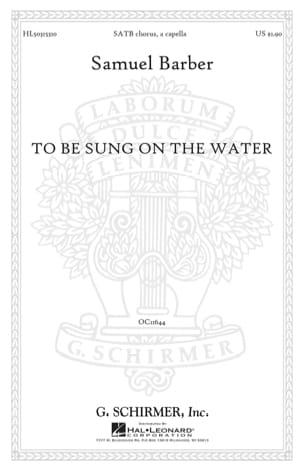 To Be Sung On The Water Opus 42-2. Samuel Barber laflutedepan