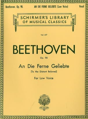 BEETHOVEN - An Die Ferne Geliebte Opus 98. Serious Voice - Sheet Music - di-arezzo.co.uk