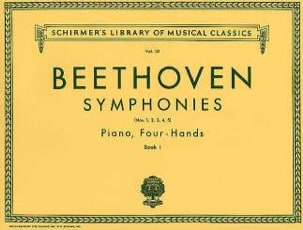BEETHOVEN - Symphonies 1 to 5. Volume 1. 4 Hands - Sheet Music - di-arezzo.co.uk