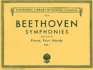 Ludwig van Beethoven - Symphonies 1 à 5. Volume 1. 4 Mains - Partition - di-arezzo.fr