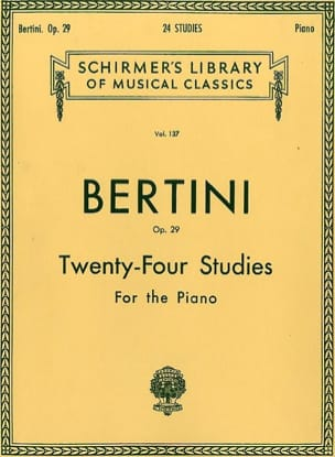 24 études op. 29 - Henri Bertini - Partition - laflutedepan.com