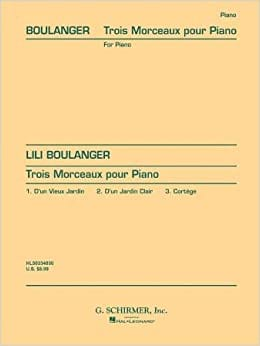 Lili Boulanger - 3 pieces - Sheet Music - di-arezzo.co.uk
