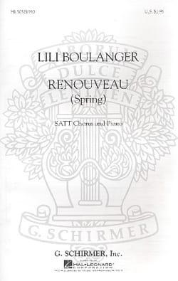 Renouveau Spring Lili Boulanger Partition Chœur - laflutedepan