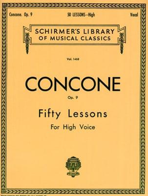 Giuseppe Concone - 50 Lessons Opus 9 Voix Haute - Partition - di-arezzo.fr
