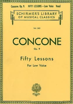Giuseppe Concone - 50 Lessons Op. 9 Serious Voice - Sheet Music - di-arezzo.co.uk