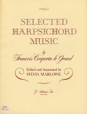 François Couperin - Selected Harpsichord music - Partition - di-arezzo.fr