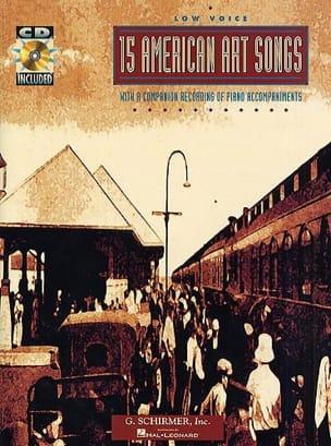 15 American Art Songs Voix Grave - Partition - di-arezzo.fr