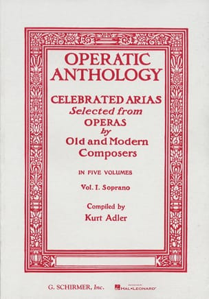 Operatic Anthology Volume 1 Soprano Partition Opéras - laflutedepan