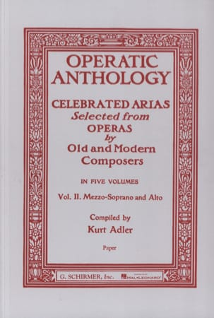 Operatic Anthology Volume 2 Mezzo Partition Opéras - laflutedepan