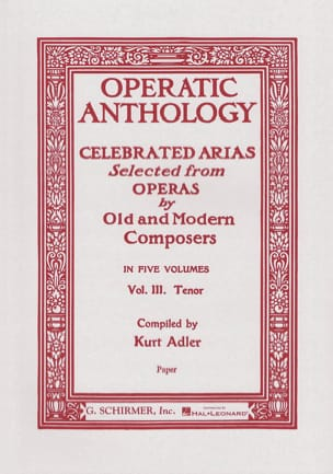 - Operatic Anthology Volume 3 Tenor - Partition - di-arezzo.fr