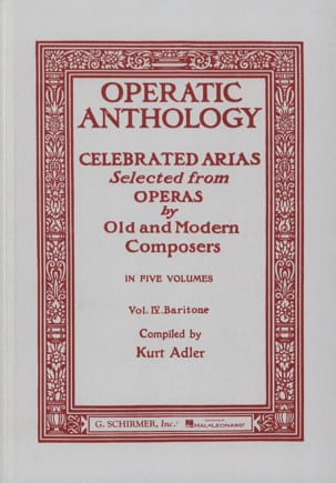 - Operatic Anthology Volume 4 Baritone - Sheet Music - di-arezzo.com