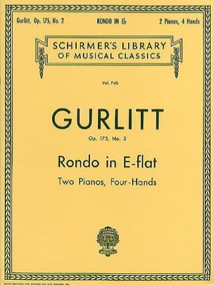 Rondo en mi bémol Op. 175-2. 2 Pianos Cornelius Gurlitt laflutedepan